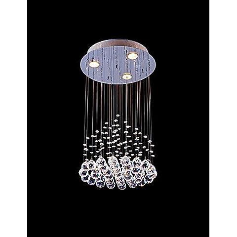 Ornati in tradizionale stile vintage Shabby Chic50W luce pendente , moderno/pittura contemporanea funzione per Crystal Metal soggiorno / sala da pranzo / Corridoio , 110-120V