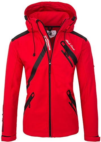 Rock Creek Herren Softshell Jacke Outdoor Regenjacke Softshelljacke Windbreaker Laufjacke Wanderjacke Funktions Sport Jacken H-127 Red L
