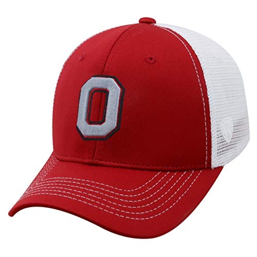 Top of the World NCAA-Ranger Trucker Mesh-Adjustable Snapback Hat Cap, Herren, Ohio State Buckeyes-White, Einstellbar Ohio Mesh Cap