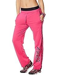 Zumba Fitness WB Jammin Jersey Pants - Pantalones deportivos para mujer, color rosa, talla S