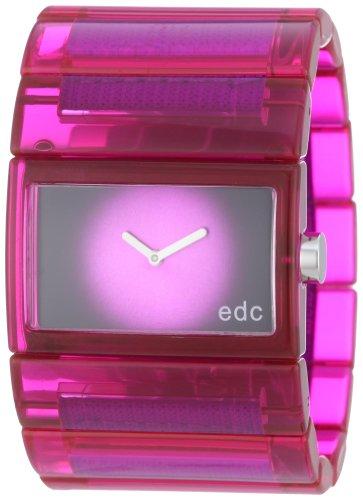 Edc Damen-Armbanduhr Jazzy Crossover Analog Quarz Plastik EE900202003