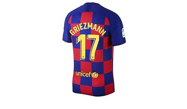 17 Griezmann Maillot de Football pour Homme Saison 2019-2020 Barcelone Rouge//Bleu