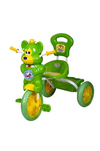 HLX-NMC KIDS FUN MOUSE MUSICAL TRICYCLE GREEN/YELLOW  available at amazon for Rs.1675
