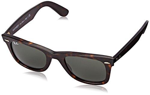 Ray Ban Unisex Sonnenbrille ORB2140 Gr. Medium (Herstellergröße: 50), Braun (Gestell: Havana, Gläser: Grün Klassisch 1185)