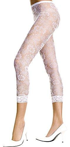 Sky Hosiery Damen Leggings mit Blumenmuster - Weiß - Einheitsgröße -