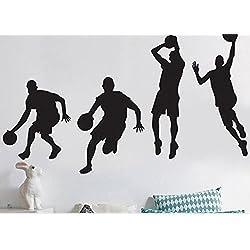 Bluelover 40X90cm Jugando Baloncesto Wall Stickers Extraíble Deportes Baloncesto Etiquetas Hogar Niño Habitación Decoración Pared Adhesivo