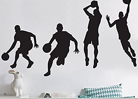Bluelover 40X90cm Jouant Basket-Ball Autocollants Amovible Sports Basketball Stickers Home Boy Chambre Decor Wall Sticker Mural