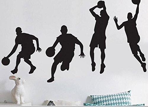 Aufkleber Basketball (Bluelover 40X90cm Spielen Basketball Aufkleber Abnehmbare Sport Basketball Decals Home Boy Zimmer Dekor Wand Wandaufkleber)