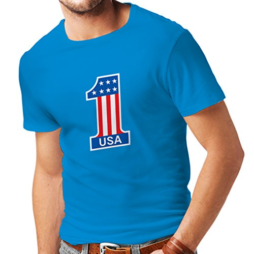 413i e pFsL UK BEST BUY #1T shirts for men United States of America   USA American Flag patriotic clothing (Large Blue Multi Color) price Reviews uk