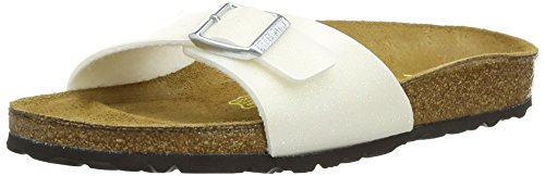 Birkenstock Damen Madrid Sandalen Weiß (Magic Galaxy White)