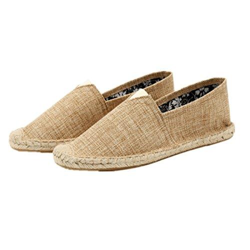 CHT Flachsstroh Schuhe Herrenschuhe Xiaji Fan Brown