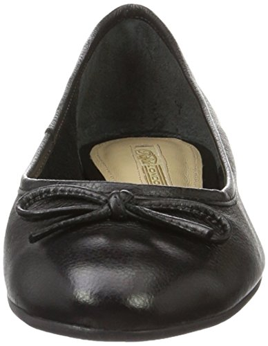 Buffalo Zs 2590-16 Vegetal Leather, Ballerines Femme Noir (Black 01)