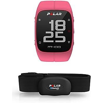 Polar M400 Montre GPS de course à pied, Avec ceinture cardiaque, Rose