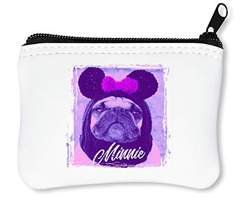 Beautiful Babe | Minnie Pug | Animal Collection | Cool T Shirt | Nice to | Super | Osom | Popular Mouse | Yolo Swag Reißverschluss-Geldbörse Brieftasche ()