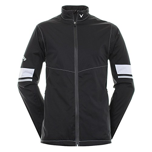 Callaway Golf 2017 Mens Green Grass WaterProof Performance Jacket Caviar Medium Performance Tour Jacket
