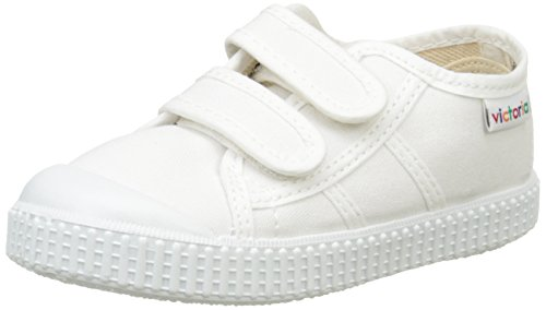 Victoriabasket lona dos velcros - sneakers unisex per bambini, bianco (20 bianco), 25