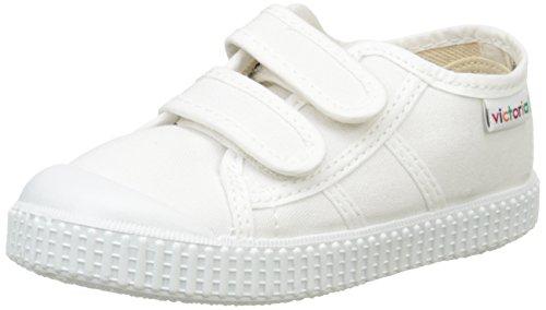 Victoria Basket Lona Dos Velcros - Zapatillas Unisex Niños, Blanco (Blanc (20 Blanco)), 29 EU