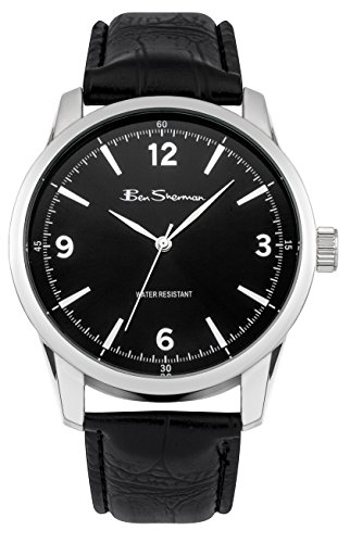ben-sherman-mens-quartz-watch-with-black-dial-analogue-display-and-black-leather-strap-bs114
