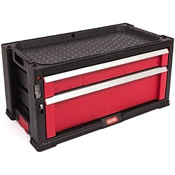 keter werkzeugkoffer werkzeugwagen kiste 6 schubladen mit lenkrollen baumarkt. Black Bedroom Furniture Sets. Home Design Ideas