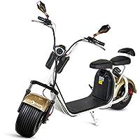 ECOXTREM Hoverkart, Kart asiento redondo, Color Liso Azul con rueda delantera y manillar a los lados (para acelerar, frenar y girar libremente), ...