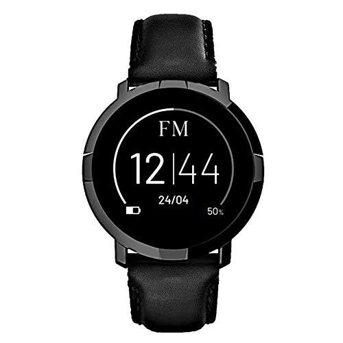 Florence Marlen FM1R Verona   Diseñado en Italia   2 Correas   Smartwatch Hombre-Mujer Correa Piel Negra  Reloj… 1