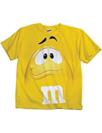 M&M Candy gelb Silly Character Face Erwachsene T-Shirt