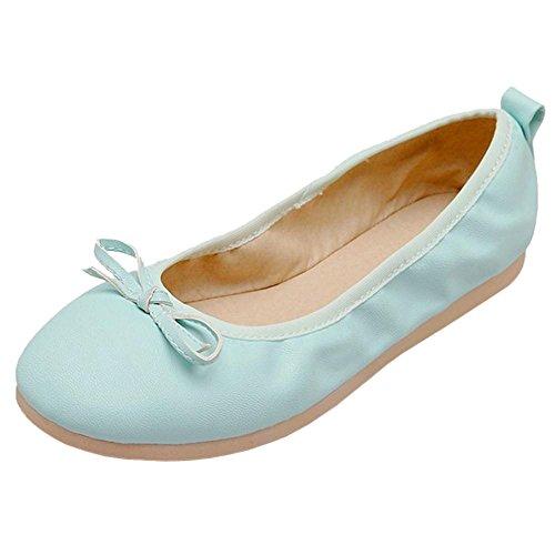 TAOFFEN Donna Dolce Ballerine Scarpe Light Blue-23