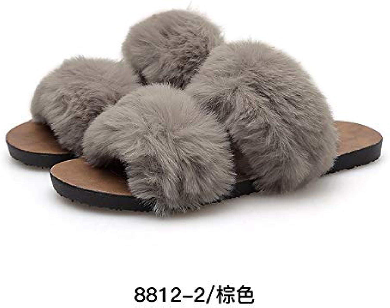 XIAOGEGEMT XIAOGEGEMT XIAOGEGEMT Fluff Pantoufles Nouvelles Pantoufles Coton Automne et Hiver Chaussures FemmesB07K27ZCQ5Parent 9ed321