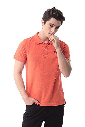 Pau1Hami1ton T-06 Casual Slim manica corta collo polo T-shirt Polo da uomo Arancione