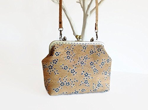 Vegan Bag, Cork Handbag with Strap, Unique Gift for Women - handmade-bags