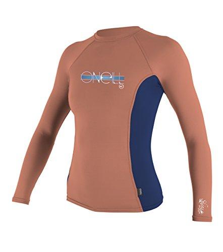 O 'Neill Neoprenanzug Mädchen UV Sun Schutz Skins Long Sleeve Crew Sun-Shirt Rash Guard (Crew Rash Guard Skins Neoprenanzüge)