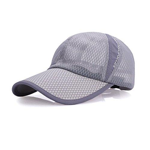 BAO CORE Mens Women Summer Sport Long Peak Caps Baseball Golf Caps Fast Dry Sun UV Protection Mesh Breathable Sun Hats Trucker Caps Adjustable Large Size 56-60cm