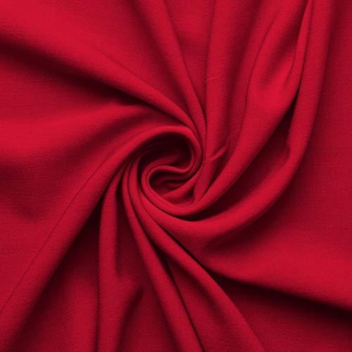 Wolle Gabardine (www.aktivstoffe.de Wolltuch Feingabardine - Elasthan - Wolle - Stoff Meterware - 4 Farben (tangorot))