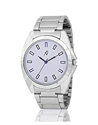Yepme Travan Men's Watch - White/Silver -- YPMWATCH2295