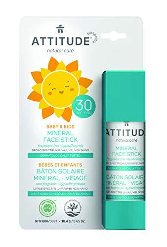 ATTITUDE mineralischer Sonnenschutzstick LSF30 für Gesicht von Babys & Kinder (1 x 18,4 g) -