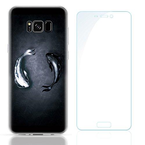 Samsung Galaxy S8 Plus (6,2 zoll) Schutz Hülle Case in wunderschönem Design Weiches transparentes TPU Landschaft Handyhülle Fische Fish Handy Etui mit Motiv Gel Bumper Natur Scenery Soft Case hochwert Pattern 12