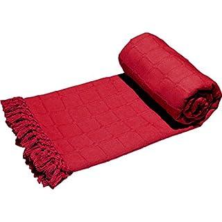 Ashley Mills Batten Throw Burgundy/Wine 90x100, Large 3 Seater Sofa/Bed Blanket 100% Cotton