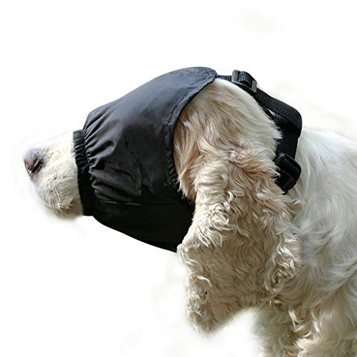 Hawkimin mops Bekleidung Beruhigender Hund Augenmaske Haustier Angst Kragen Maske Haustier Schnalle Zubehör -