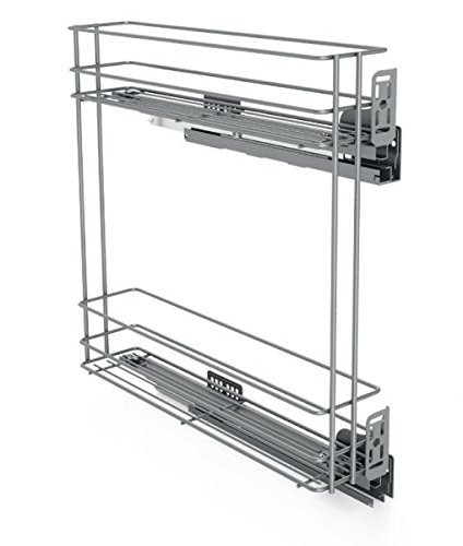 Seitenmontage Soft Close Ziehen Draht Cargo Korb Küche Speisekammer Schrank side-mounted 150 mm-line PRO RIGHT 2-levels Chrome