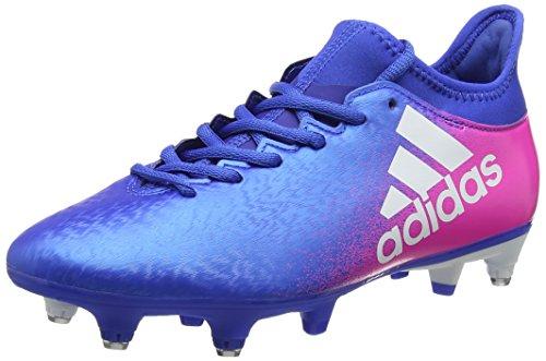adidas X 16.3 Sg, Chaussures de Football Homme Bleu (Blue/footwear White/shock Pink)