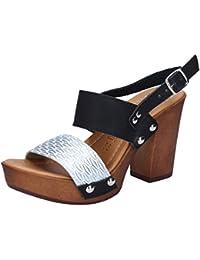 hh-Made in Italy Damen Sandale, Rot, 36 EU