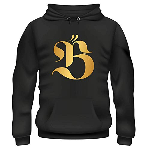 Beyonce Big B Herren Kapuzenpullover Gr. M, schwarz/goldfarben