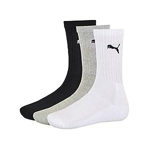 Puma – Unisex Sport Socken 3er Pack, Schwarz (Schwarz – navy), 47-49