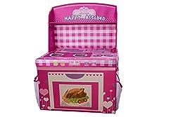 Kids Fun Pink Happy Kitchen Storage Box And Toy Organizer