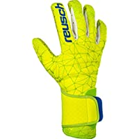 Reusch Pure Contact G3 Fusion - Guanti da Portiere da Uomo, Uomo, 3970900, Lime/Safety Yellow, 9.5