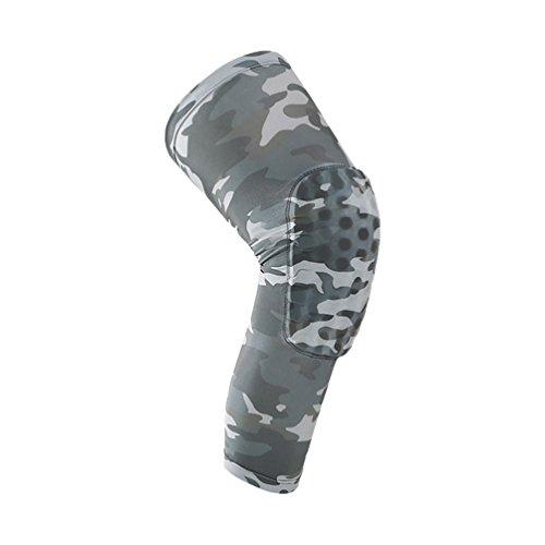 Dexinx Unisex Sport-Knie-Klammer Sleeves Unterstützung für Laufen, Joggen, Radfahren, Wandern Anti-Rutsch-atmungsaktiv Outdoor-Knee Protecter Hellgrau M(43cm)