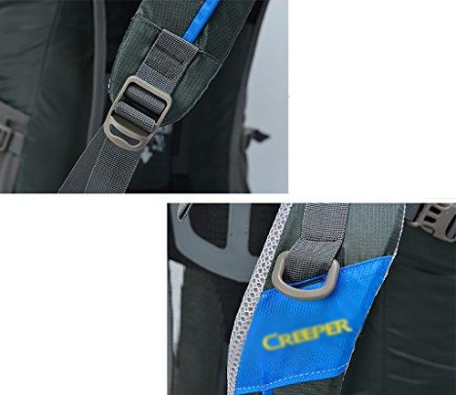 zaino trekking Maschio / Femmina 60L Outdoor Alpinismo Bag galleggiante spalla traspirante zaino impermeabile Zaini da escursionismo ( Colore : D , dimensioni : 60L-35*26*75CM ) D