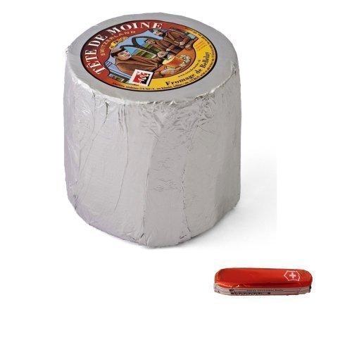 Preisvergleich Produktbild Tete de Moine AOC Switzerland Mönchskopfkäse Classic 850g ganzer Laib für Girolle+Schokoladentaschenmesser