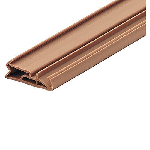 Gedotec Tür-Dichtung für Innentür Zugluft-Stopper für Zimmertür Türbodendichtung für Haustür - SV 155   25 mm   TPE beige   1 Stück