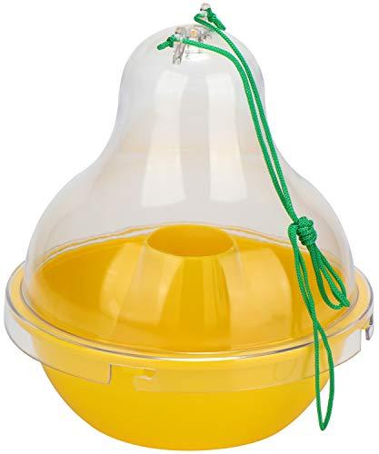 com-four Trampa de Avispas para Colgar - Trampa para Insectos Hecha de plástico - protección ecológica contra Avispas, Moscas y avispones (01 Piezas - 20cm Transparente)
